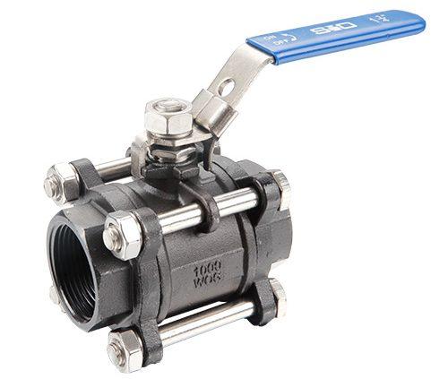 Three-piece ball valve