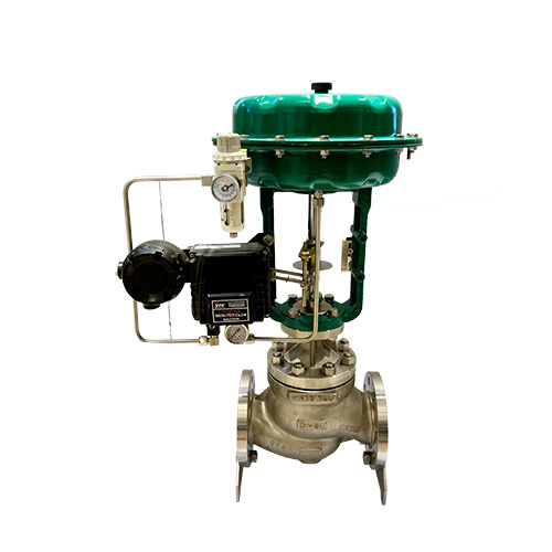 Flanged gate control valve