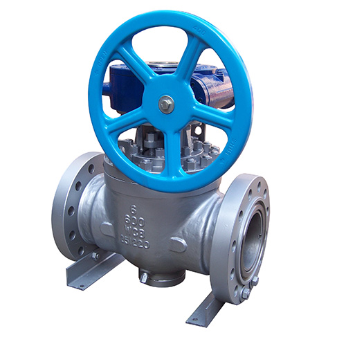gear-operated ball valve