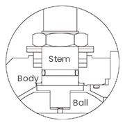 Blow-out proof stem diagram