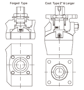 Top mounting diagram