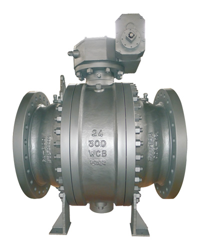 Two-piece trunnion mounted ball valve