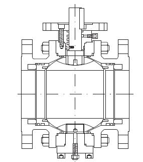 SIO trunnion mounted ball valve