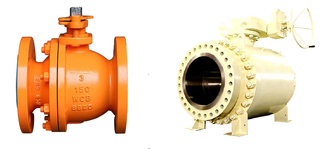 Floating ball valve vs. Trunnion mounted ball valve