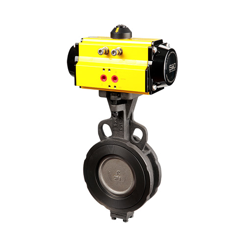 Actuated high-performance butterfly valve