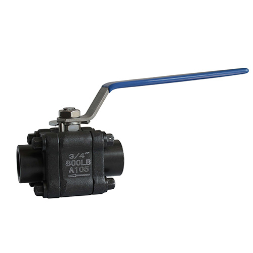 Manual high-pressure ball valve
