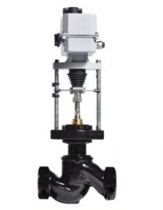 New black and grey valve with automatic electric drive