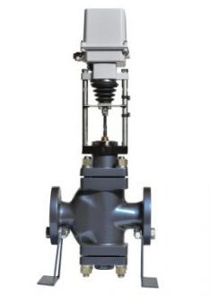 New large and grey valve with automatic electric drive for water supply systems