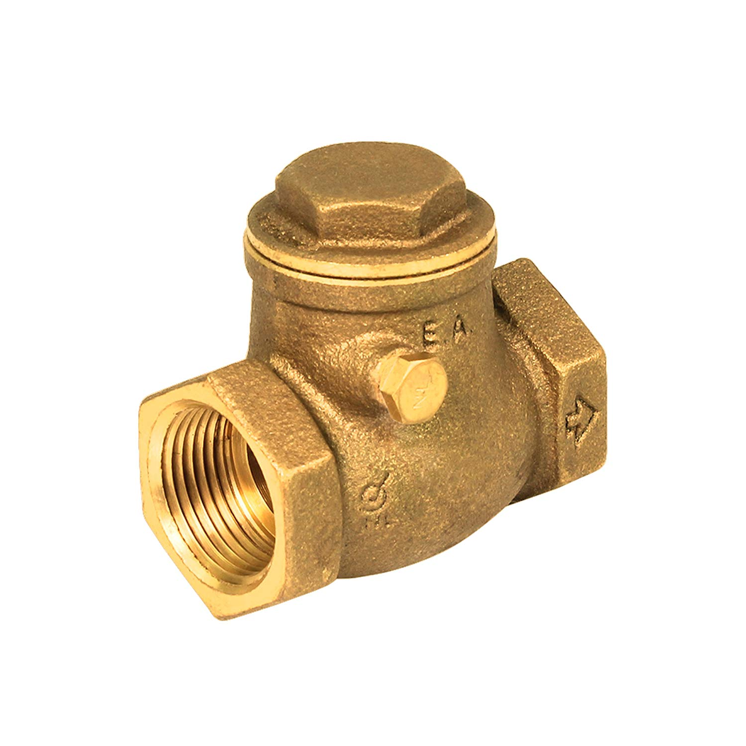 Everflow 210T034-NL 3/4-Inch Lead Free Brass Swing Check Valve with Female NPT Threaded