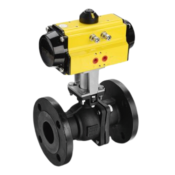 Actuated Flange Ball Valve without background