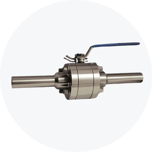 High-pressure ball valve